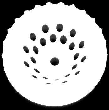 Cup wheels with more segments provide