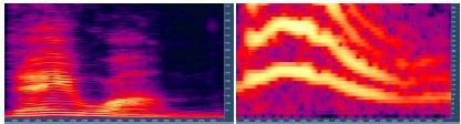 The Formant Vocoder : Example of formant: (a) : The spectrogram of the utterance day one showing the pitch and