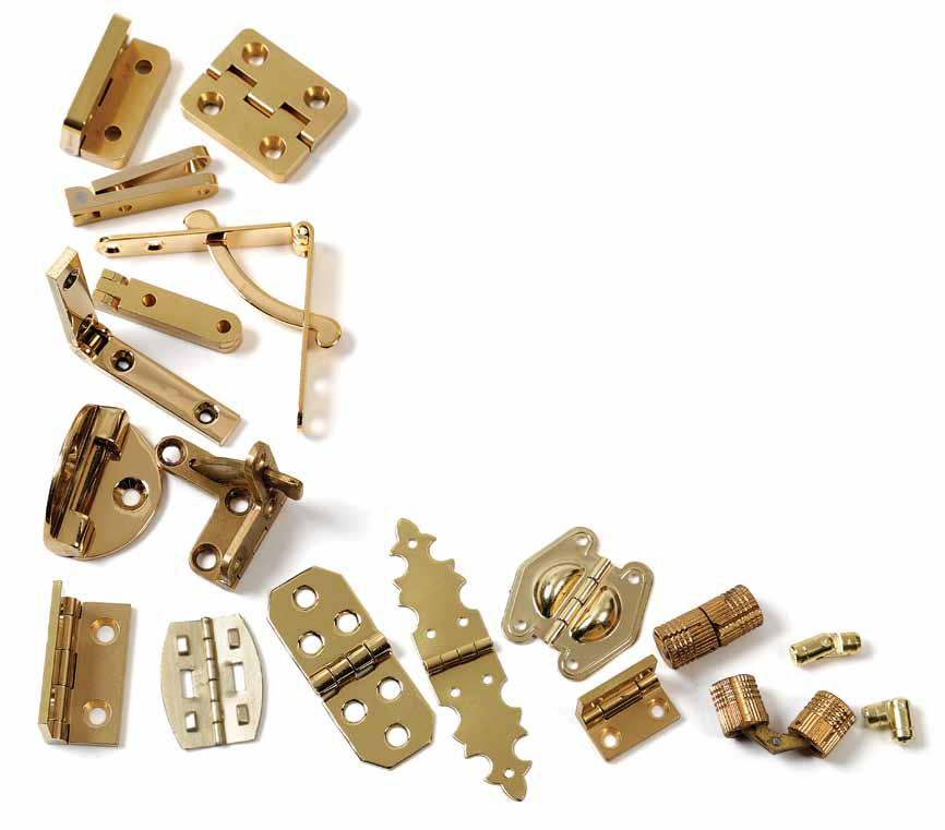 Pick the Perfect Hinges for Your Boxes The right choice will help you design and build better boxes by Doug Stowe Selecting just the right hinges to fit each special box can be a daunting task.