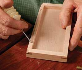 Mini barrel hinges are perfect for boxes of small to modest size, no larger than about 3 in. by 5 in.