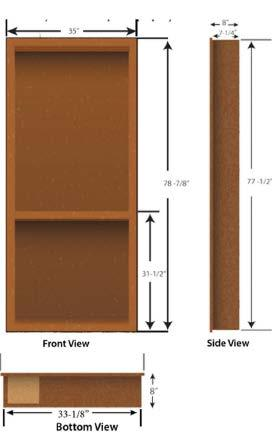 BUILDING YOUR BOOKCASE Size Considerations Dimensions given with these instructions are based on the size of the universal Flush-Mount Murphy Door (for a standard 36 W c 80 H finished opening) to