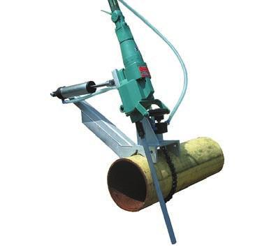 cutting with clamp Pneumatic motor with variable speeds Ideal for cutting pipe, tanks, structural steel, profiles and other materials Designed for the toughest service in refineries, chemical plants,