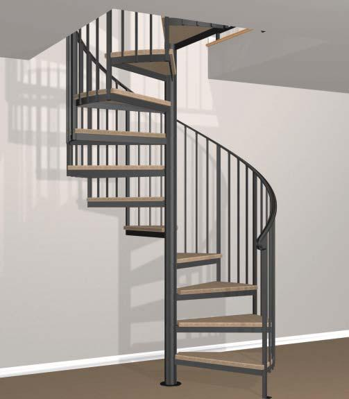 The framework for our spiral stairs is structurally engineered to provide maximum strength and stability for a lifetime.
