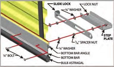 11. INSTALLING THE SLIDE BOLT LOCK AND STEP PLateS A. Remove factory installed bolt. B. Install the slide lock (Figure 10). C. Install the step plates (Figure 10). 12.