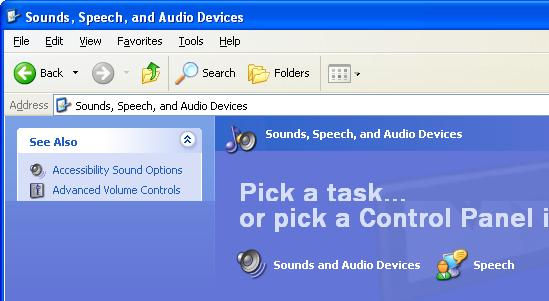 Click r Sounds and Audio Device Properties appears, and then click the [Audio] tab.