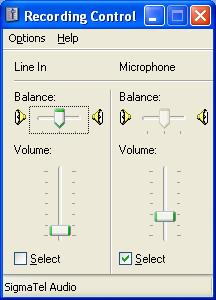 When USB Audio CODEC is used: [Volume...] is deactivated, and the recording audio volume level cannot be changed.