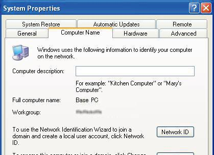 Find out your PC s computer name to let Remote stations access the Base station using it. Windows 7/ Windows Vista (This description is based on Windows 7.