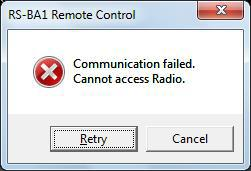 TROUBLESHOOTING Problem: Cannot access a radio with the Remote Controller To access a radio with the Remote Controller, configure the connection settings in the Connect Setting screen. (pp.