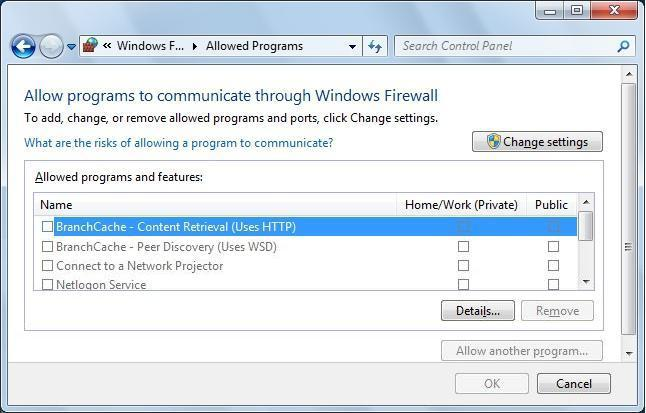 the Firewall. Windows 7 q Click [Control Panel] in the <Start> menu.