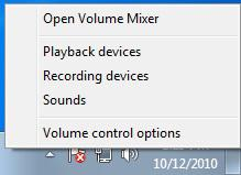 PREPARATION Volume adjustment for audio device Before you start communicating using the RS-BA, the PC s audio volume must be set to a proper level.