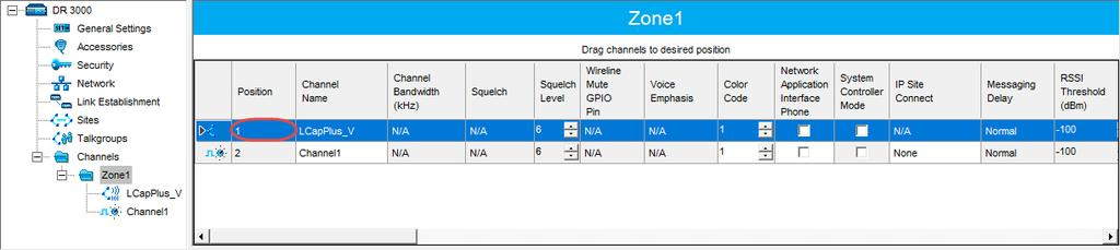 In the Channel pane, specify the following channel-related parameters. Slot 1 Channel ID Specify the Channel ID of Slot 1 for voice channels.