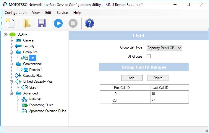 Configuring MOTOTRBO Equipment In the left pane, right-click Group List and choose Add. In the left pane, under Group List, select the list you just added (for example, named List1).