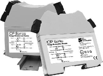 5 or 15 DIN rail Surge Devices: These components are ideally suited for protecting panel-mounted equipment, and are typically used in the controls section of a motor