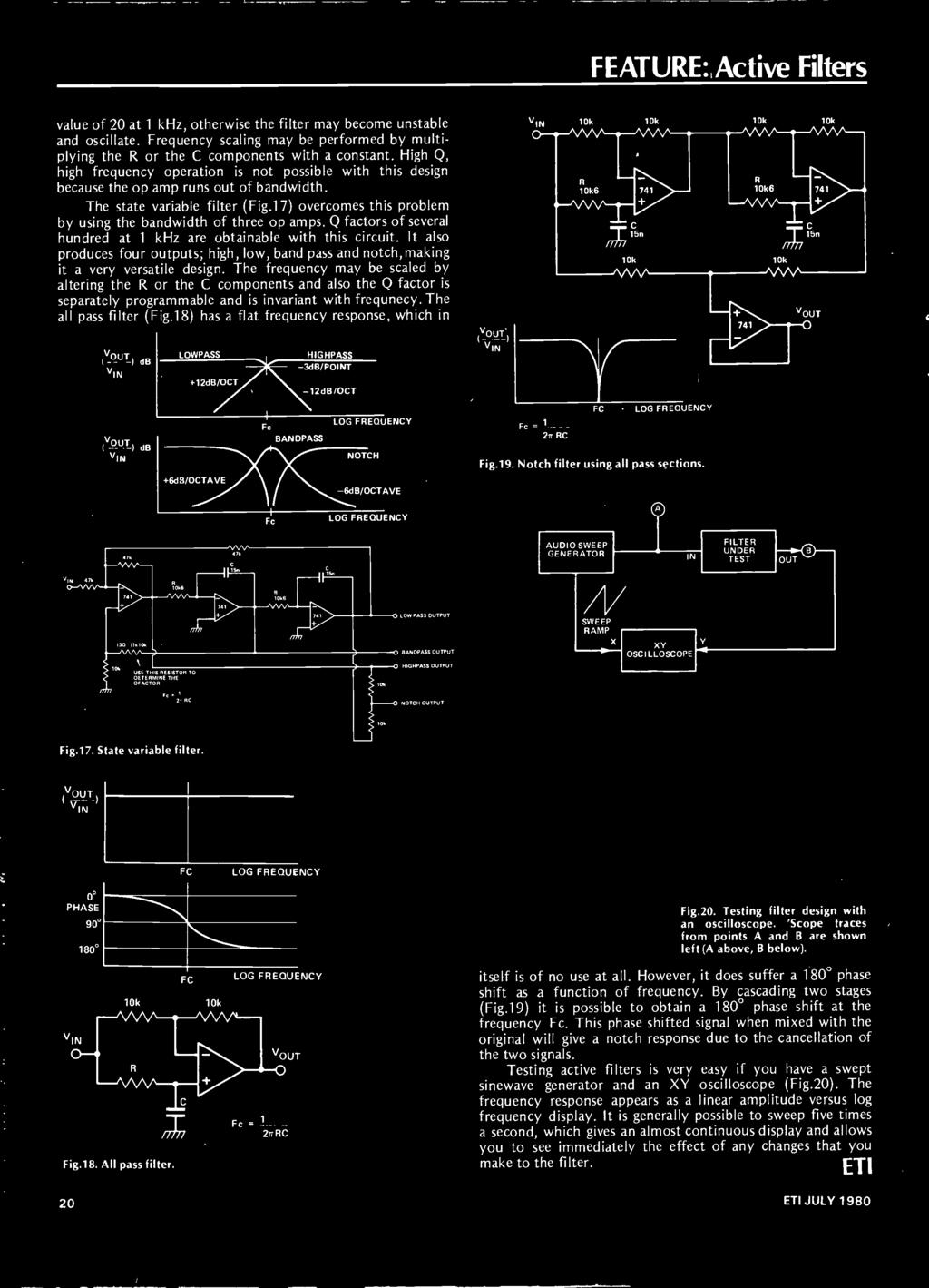 Stereo Spacecraft History Of Image Co Ordinator Active Filters Low Pass Filter Integrator Circuit Using Op Amp 741 Circuits Gallery The Frequency May Be Scaled By Altering R Or C Components And Also