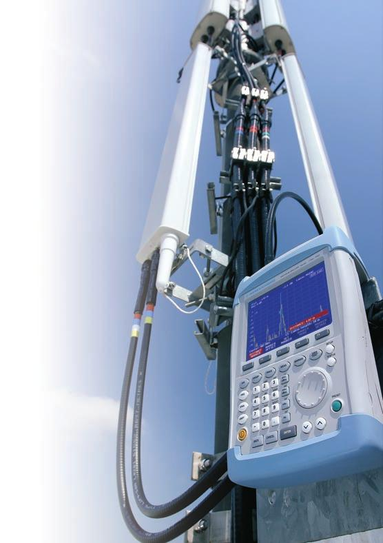 Spectrum analysis anywhere, anytime The R&S FSH3 is the ideal spectrum analyzer