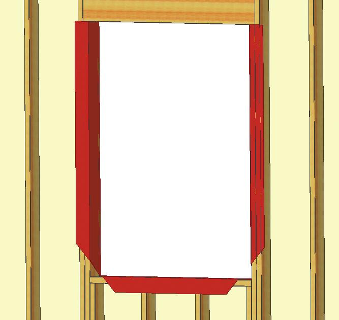 B) Verify the rough opening is plumb, level, and square. (Fig.