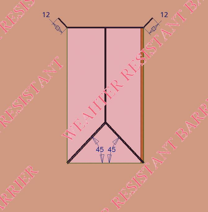 4) D) Make sure the bottom sill area of the opening does not slope toward the interior.