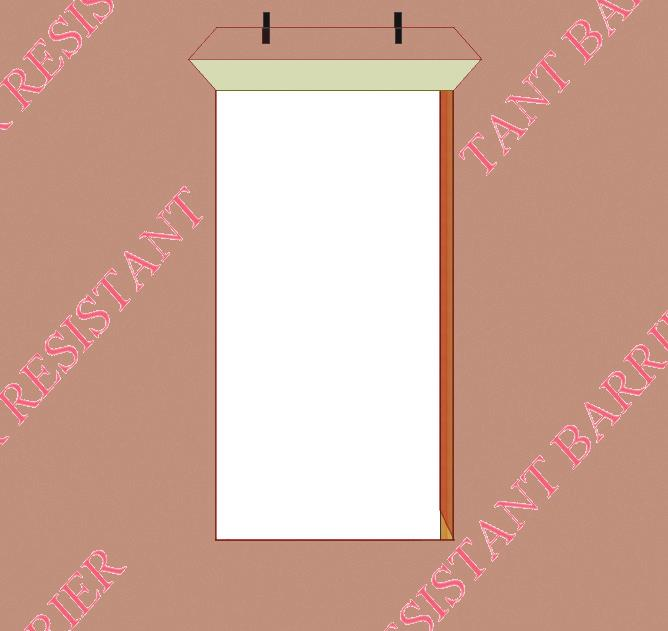 5) F) Fold back the WRB on the sides and sill toward the interior and staple into place.