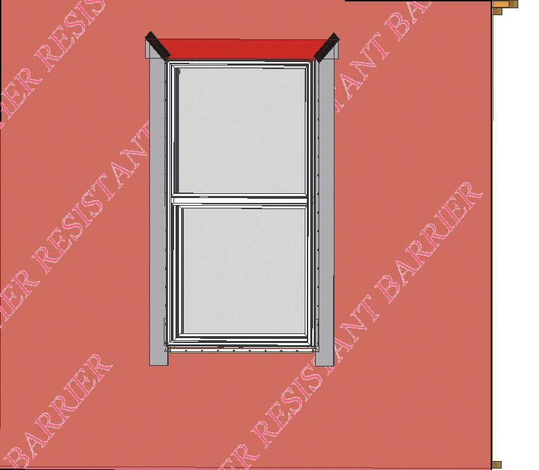 "Step 6: Complete Flashing A) Cut and apply side flashing. Side flashing should run from the bottom of the sill flashing to 8"" above the rough opening. (Fig."