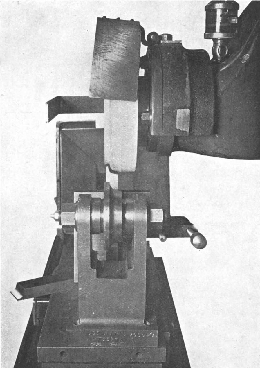 214 GRINDING-WHEEL FORM -CRUSHING checked either by means of a profile gauge and light box or by projector on to a large-scale drawing.