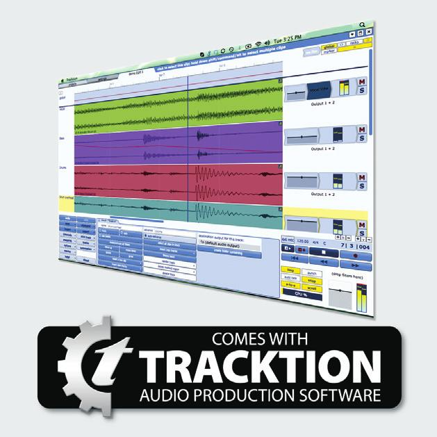 Record. Mix. Share. Tracktion is one of the world s fastest and easiest Digital Audio Workstations (DAW) for composing, recording, editing, mixing and sharing your music with the world.