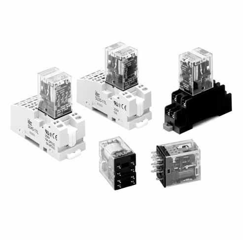 Full featured universal miniature relays Designed with environment taken into consideration Two terminal styles: plug-in and PCB mount Non-polarized LED indicator available on plug-in relays No