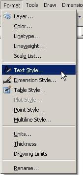 AutoCAD Essentials 5. Text Style setting Pick Format Select Text Style This brings up the Text Style dialog box. Create New style names. Select Font. Set fixed text height.* Set special effects.