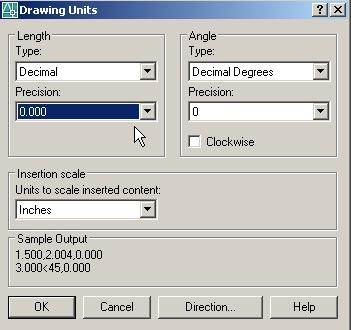 Start a new drawing. Use Acad.dwt as the seed file. (File... New) a.