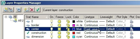AutoCAD Essentials Layers - text screen method - older versions of AutoCAD Text screen dialogs may be used to create layers, change line colors and change layers.