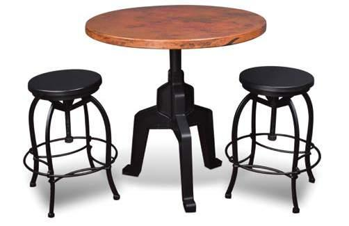 TRIPOLI Bar H1100-036 36 Hand Hammered Copper Round Top 36 x 36 x 1 1/2