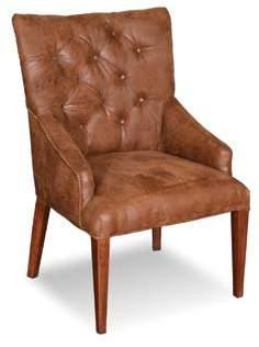 Safari Tufted Bonded Leather Arm Chair 26 1/2 x