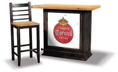 H8046-500 Cerveza Bar Rustic Wax Finish 49 1/2 x 23 x