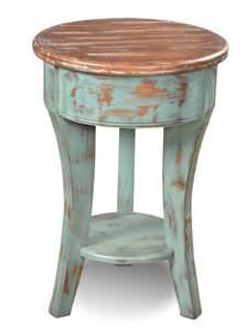 Two Tone Round Side Table 18 x 18 x 26