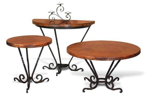 Table 22 x 22 x 24 SANTA CLARA occasional tables H1300-300 Santa Clara Copper Top & Forged Metal