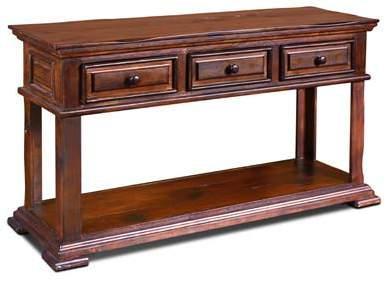 Brown Sofa Table 54 x 17 3/4 x 30 1/4