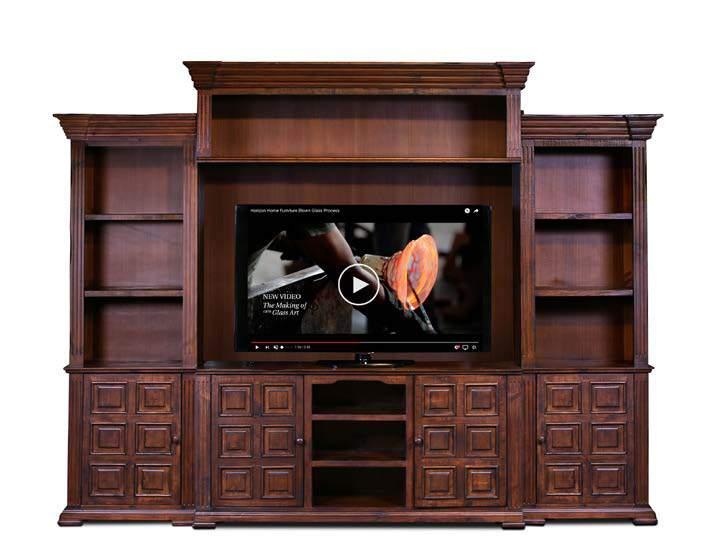 MARQUIS WALL UNIT Available in BROWN, GRAY AND WHITE H2815-066-BRN Marquis 66 Console 66 x 16 1/2 x 32 H2815-150-R-BRN Marquis Right