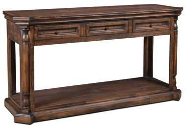Castile Brown Sofa Table 56 1/2 x 19 x 30 1/2