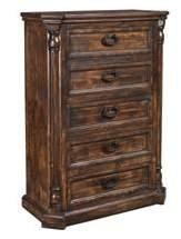 Castile 5 Dwr Chest 41 x 18 1/2 x 56 1/2 DROPPED H4385-340-BRN Castile 6 Dwr Media Chest 52 x 18 1/2 x 41 H4385-002-BRN
