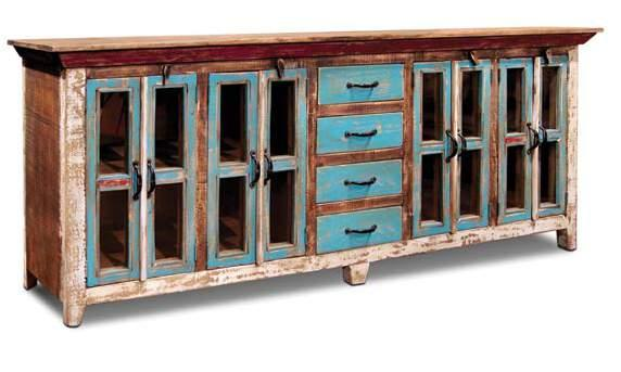 H2295-082 Bombay 82 Entertainment Console w/5 Drawers 82 x 18 x