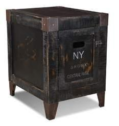 Graffiti Storage End Table 19 X 24