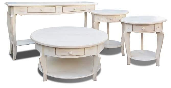 Maison Rustique COLLECTION camille occasional tables Available in Black, GRAY, red, turquoise, white sofa chair side end cktl DROPPED DROPPED DROPPED DROPPED H1015-100 Camille End Table 23 5/8 x 23