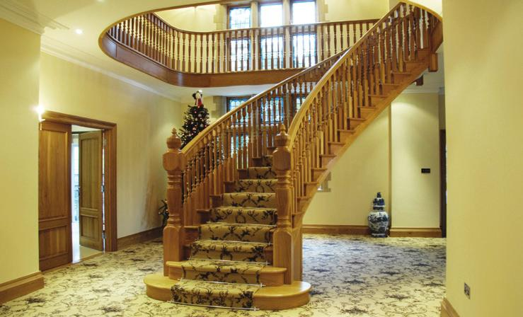 We offer a wide variety of staircase configurations