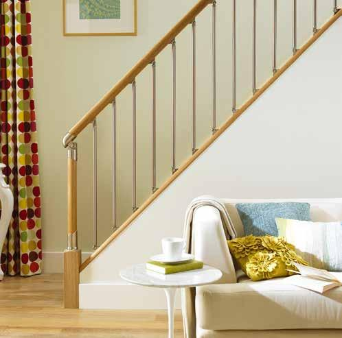 SPINDLES BREATHTAKING STAIRCASE TRANSFORMATIONS M A D E EASY Injecting contemporary designer style into any