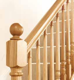 our craftsmen have added a certain poise and refinement to our best turned designs of spindle and newel