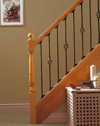 SPINDLES A RUSTIC TWIST adds texture AND CHARM A