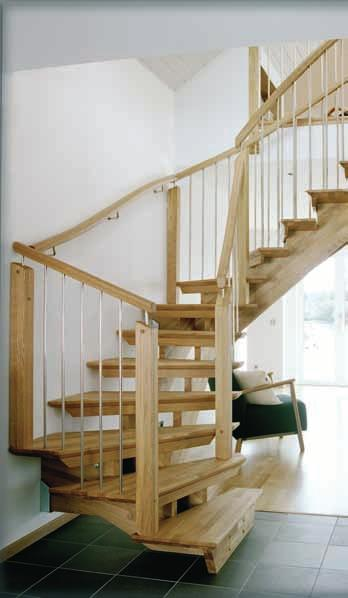 oak. Half turned Staircase
