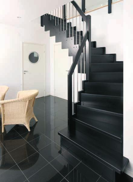 The balustrades can also be glazed in with frosted glass, which adds to