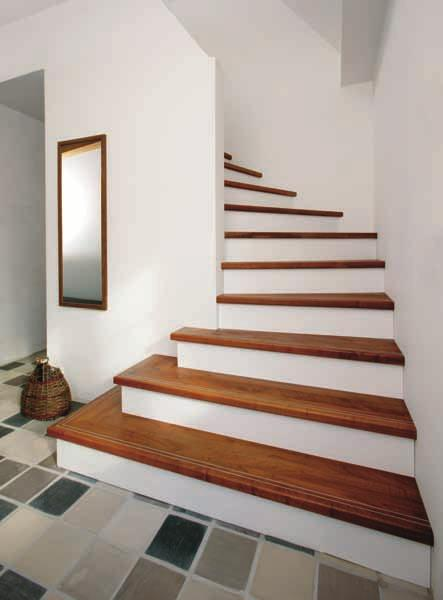 ... one emphasises the other. An enclosed staircase can also be attractive and exciting!