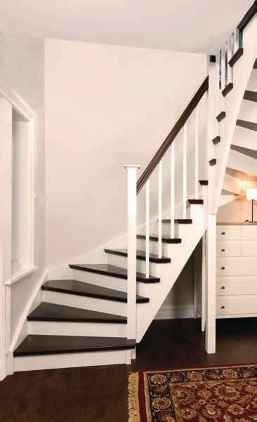 18 Half turned Staircase Stepped treads Design in dark
