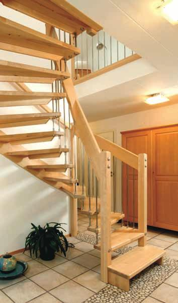 8 Half turned Staircase WF Design in oiled oak with white strings.